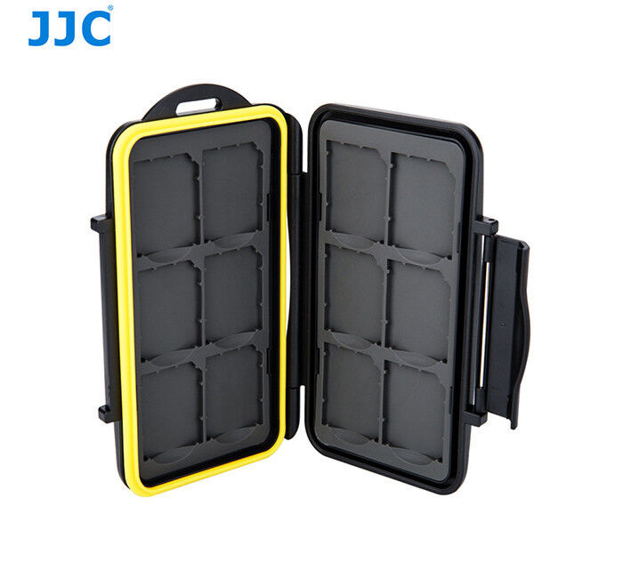 JJC MC-SD12 Tough Water-Resistant Memory Card Case for 12 x SD cards US Seller