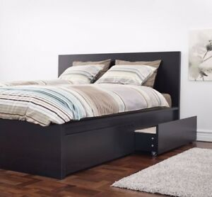 King size bed and storage frame with extra