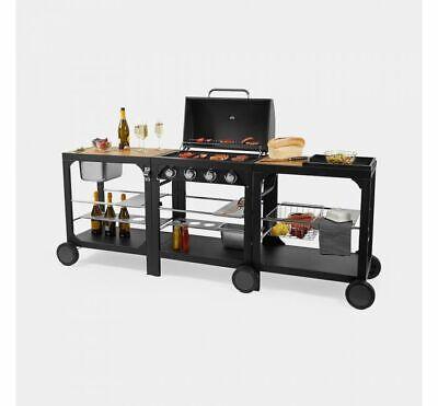 Gas Barbecue & Modular Kitchen BBQ Grill Outdoor Garden Patio Family Party Cook