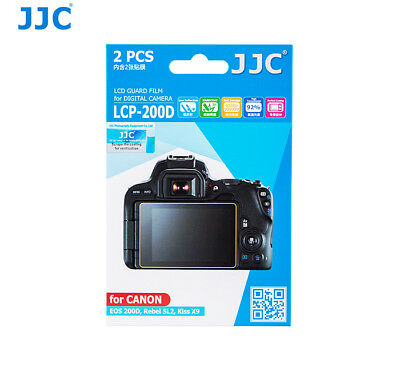 JJC LCP-200D Screen Guard Protector PET Film for CANON EOS 200D Rebel SL2 Camera