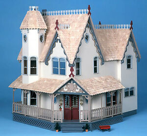 The Lovely Grand Gingerbread Victorian Dollhouse Wood Kit