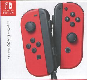 Joy Con (L/R) Wireless Controllers Nintendo Switch - Super Mario Odyssey Red
