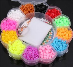 1200pcs Set Children Crafts Perler / Hama Beads Jigsaw Puzzle For Kids GREAT Fun