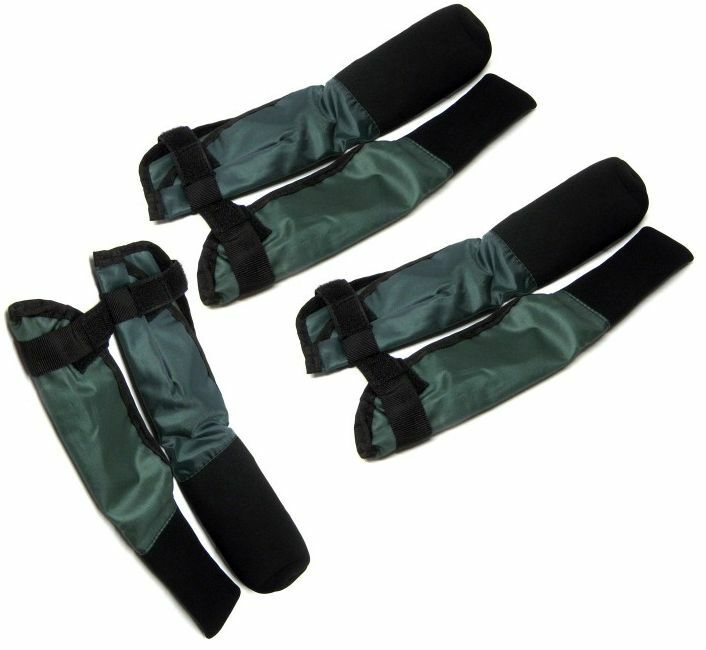 3 X PAIRS OF GREEN DELUXE ROD TIP AND BUTT ROD PROTECTORS CARP FISHING RODS CMS