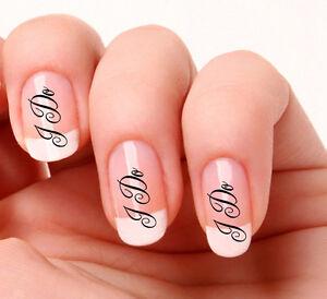 20 Nail Art Decals Transfers Stickers #798 - Wedding  I DO nail art