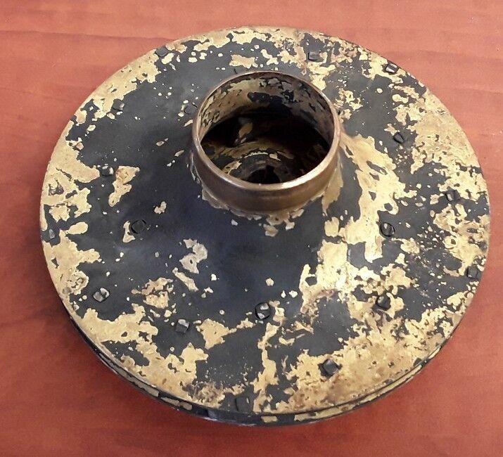 """Brass Impeller Wheel for Circulator Pump, 5 1/8"""" Dia, 3/8"""" Bore"""