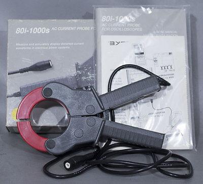 Fluke 80i-1000s Ac Current Probe 1000 A 5 Hz-100 Khz For Oscilloscopemultimeter