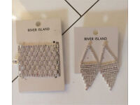 Brand new river island earrings and braclet