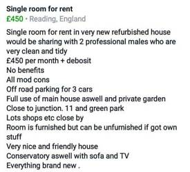 Single room in refurbished house