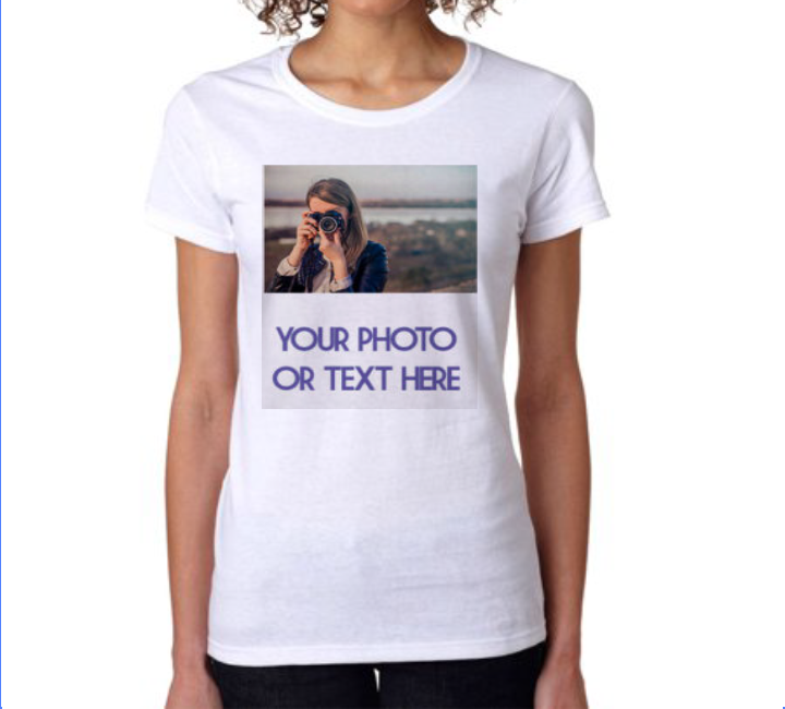 Custom Made Personalized t-shirt Photo on a Shirt Women Add