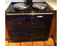 AGA double oven,gas fired,standard flue,black,dismantled ready for transportation and installation