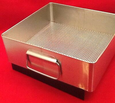 New X Medin Stainless Steel Instrument Tray W Handle 10x10.5x3.5