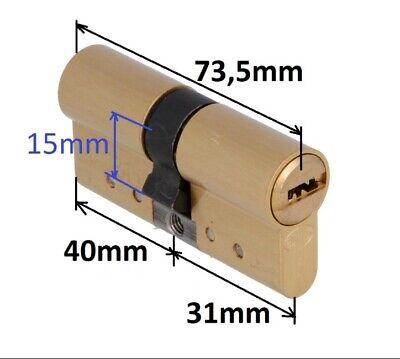 Cilindro seguridad TECON TC6 30x40 lat/ón leva 15mm