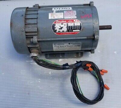 Dayton 3n370b Ac Induction Motor 1 Hp 3 Phase 1725 Rpm
