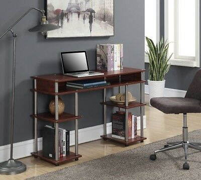 Decorate Office Desk (Student Desk Office Computer Laptop Small Decor Modern Writing Dorm Teen Cherry)