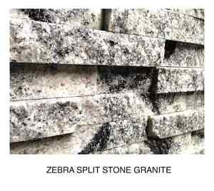 Split-stone Granite veneers for kitchens or feature walls