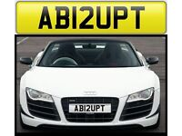ABRUPT private number plate cherished personalised car reg - AB12UPT