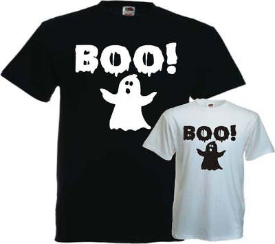BOO Geist HALLOWEEN Herren T-Shirt Gespenst KARNEVAL Kostüm Fun (Halloween T Shirt Kostüme)