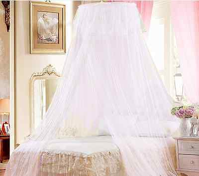 White Mosquito Net Fly Insect Protection Single Entry Double King Size Canopy HT
