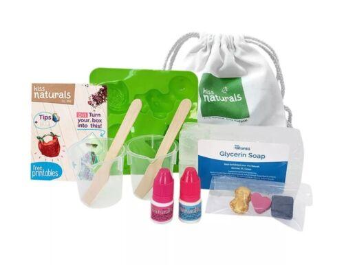 Kids Activity STEM Glycerin Soap Making Kit 100% Natural DIY 16 Hand Soaps