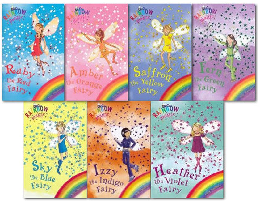rainbow magic colour fairies collection daisy meadows 7 books set series 1 to 7 9781846160004 ebay. Black Bedroom Furniture Sets. Home Design Ideas