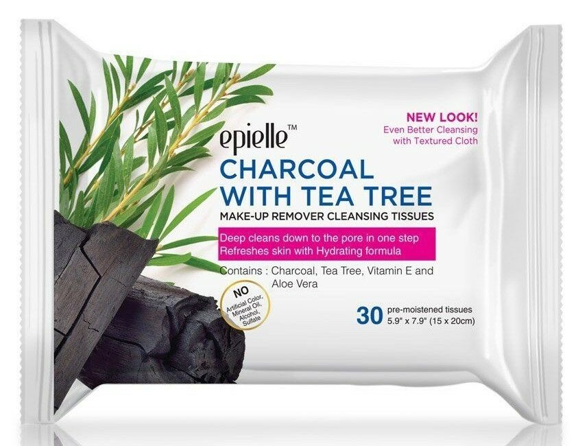 Epielle CHARCOAL w/ TEA TREE Make-up Remover Cleansing Facia