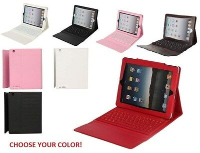 76 Key Leather Case With Bluetooth Cordless Keyboard & St...