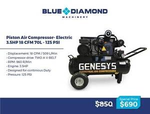Air Compressor - Piston 18-42CFM 160 Lt Diesel / Petrol /Electric Greenslopes Brisbane South West Preview