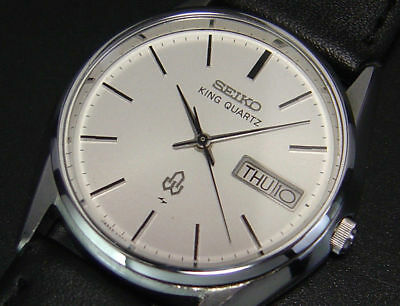 Vintage  Seiko King Quartz Precision 1977 Men's Luxury  Watch 5856  for sale  Shipping to South Africa