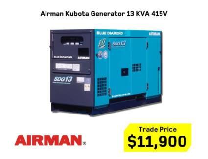 Airman Kubota / Isuzu / Hino Large Diesel Generator 13KVA-150KVA Kewdale Belmont Area Preview