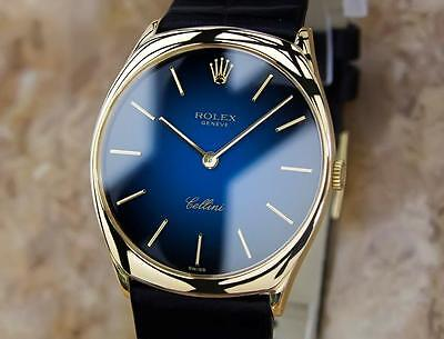 $4699.00 - Rolex Cellini Swiss Made 18k Solid Yellow Gold Mens Luxury Dress Watch BB1