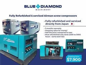 Airman Diesel  Screw Compressors - 70 -390 CFM -Fully Refurbished Kewdale Belmont Area Preview