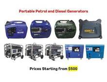 Portable Petrol & Diesel Generator – 1KVA-9KVA *Silent*Key Start* Sunnybank Hills Brisbane South West Preview