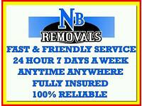 FULLY INSURED PROFESSIONAL MAN AND VAN HIRE CHEAP REMOVAL SERVICE HOUSE FLAT OFFICE COURIER MOVE UK