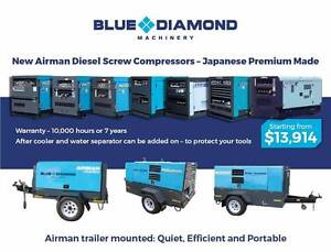 Airman Diesel  Screw Compressors - PDS55 - PDS390 CFM - Brand New Kewdale Belmont Area Preview