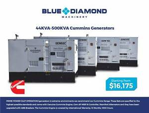 44KVA - 550KVA Cummins - Large Diesel Generators - 1500 RPM Kewdale Belmont Area Preview