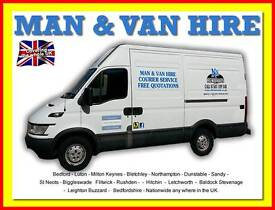 BEDFORDSHIRE MAN AND VAN HIRE CHEAP HOUSE FLAT REMOVAL COURIER OFFICE MOTORBIKE TRANSPORT BED SOFA