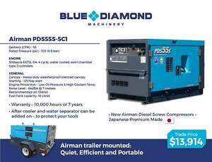Airman Diesel  Screw Compressors - PDS55 - PDS390 CFM - Brand New Gordon Ku-ring-gai Area Preview