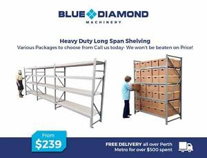 Long Span Shelving – Heavy Duty – Containers/Garage/Workshop & Sh Kewdale Belmont Area Preview