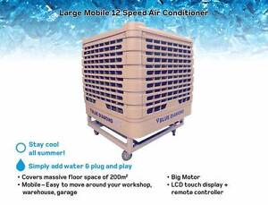 Evaporative Air cooler Large Mobile - Air Con - 12 Speed - 200m2 Kewdale Belmont Area Preview