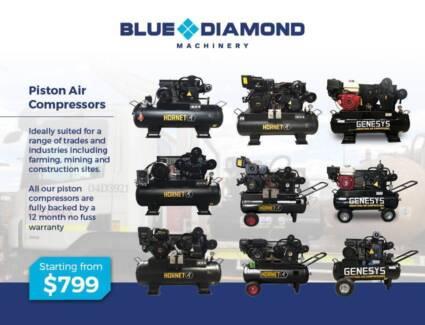 Air Compressor - Piston 18-42CFM 160 Lt Diesel / Petrol /Electric