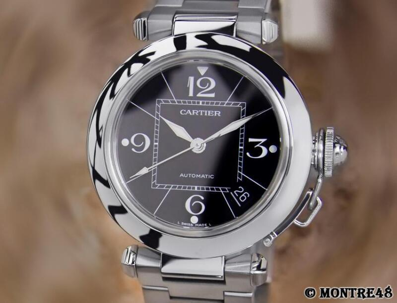 Cartier Pasha 2324 Swiss Made Men's 35mm Luxury Swiss Made Automatic Watch JU130 - watch picture 1