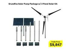 Grundfos Solar Pump Package w/ 2 or 4 Panel Solar Kit + CU200 Kewdale Belmont Area Preview