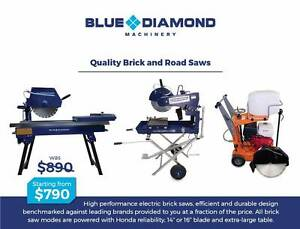 Commercial Powered Electric Bricksaw 2.3 HP & Road Saw - *HONDA* Kewdale Belmont Area Preview