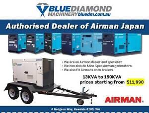 Airman Kubota / Isuzu / Hino Large Diesel Generator 13KVA-150KVA Elizabeth West Playford Area Preview