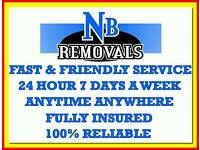 FULLY INSURED MAN AND VAN HOUSE FLAT REMOVAL COURIER SERVICE OFFICE BUSINESS STUDENT BED SOFA MOVE