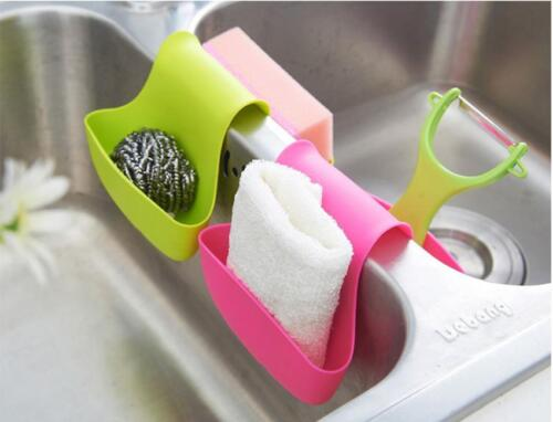Sink Caddy Organized Saddle Style Sponge Soap Holder Kitchen Gadgets Dish LJ