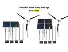 Grundfos Solar Pump Package w/ 2 or 4 Panel Solar Kit + CU200 Kewdale Belmont Area Preview