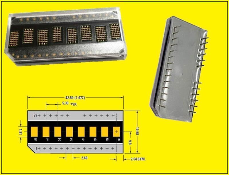 HDSP-2111 LED Alphanumeric DOT matrix Display 8 DIGIT 5x7 Gelb 1 Stück