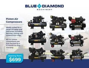 Air Compressor - Piston 18-42CFM 160 Lt Diesel / Petrol /Electric Elizabeth West Playford Area Preview